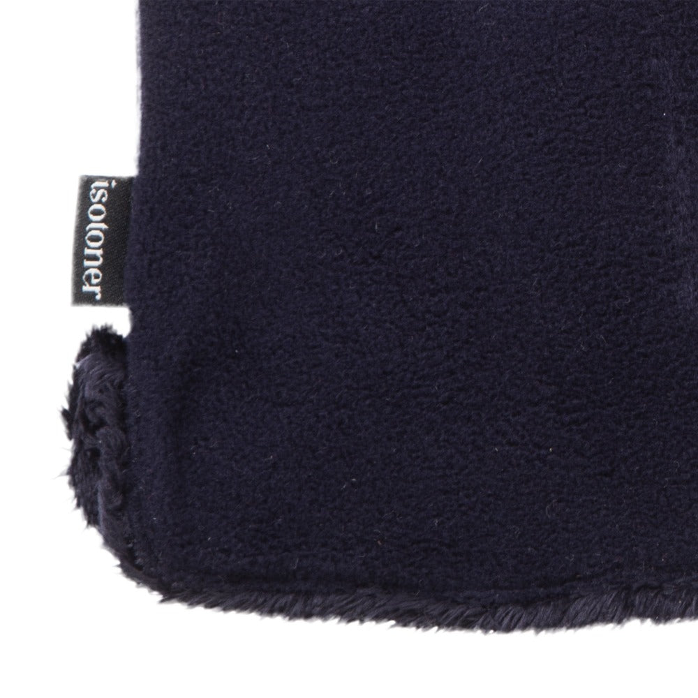 womens stretch fleece glove close up detail in midnight