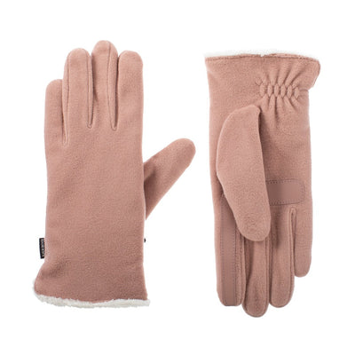 womens stretch fleece glove in winter blossom