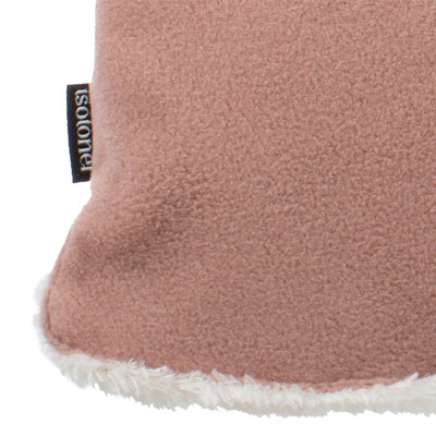 womens stretch fleece glove close up detail in winter blossom