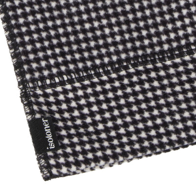 Women's Stretch Fleece Scarf in Houndstooth close up on ends of scarf