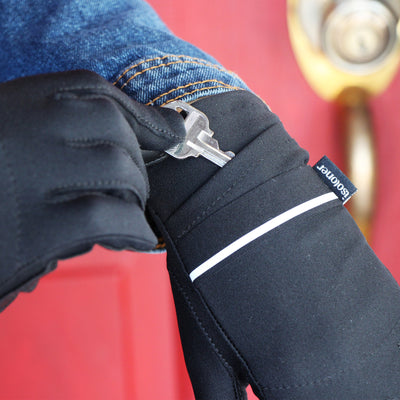 Women's Iridescent Spandex Gloves with Pocket