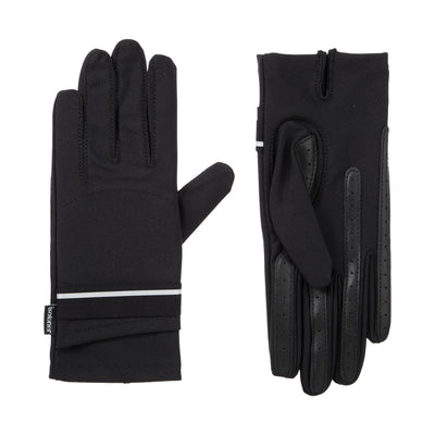 Women's Spandex Touchscreen Gloves with Pocket Black 1