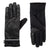 Women's Iridescent Spandex Touchscreen Gloves with Pocket Black 1