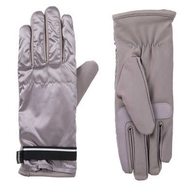Women's Iridescent Spandex Touchscreen Gloves with Pocket Dusty Lavender 3