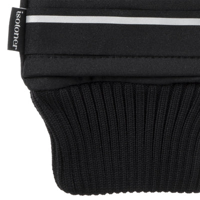 Women's Iridescent Spandex Touchscreen Mittens with Pocket Black Cuff Detail