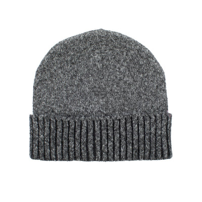 Women's Recycled Fine Gauge Knit Hat in Black