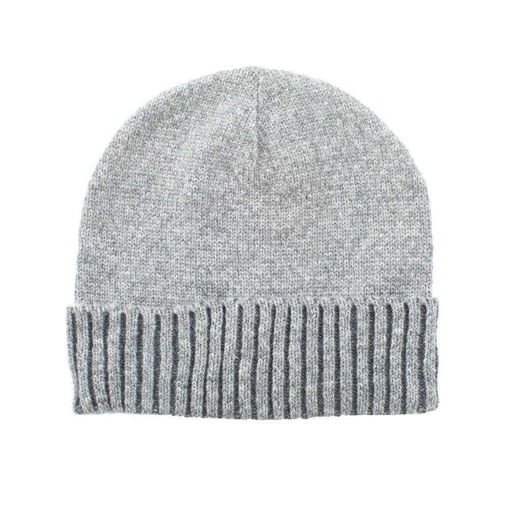 Women's Recycled Fine Gauge Knit Hat in Gray
