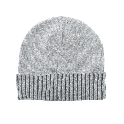 Women's Recycled Fine Gauge Knit Hat in Charcoal Heather