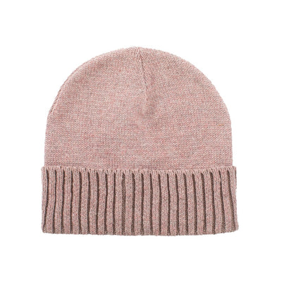Women's Recycled Fine Gauge Knit Hat in Wild Blossom Pink
