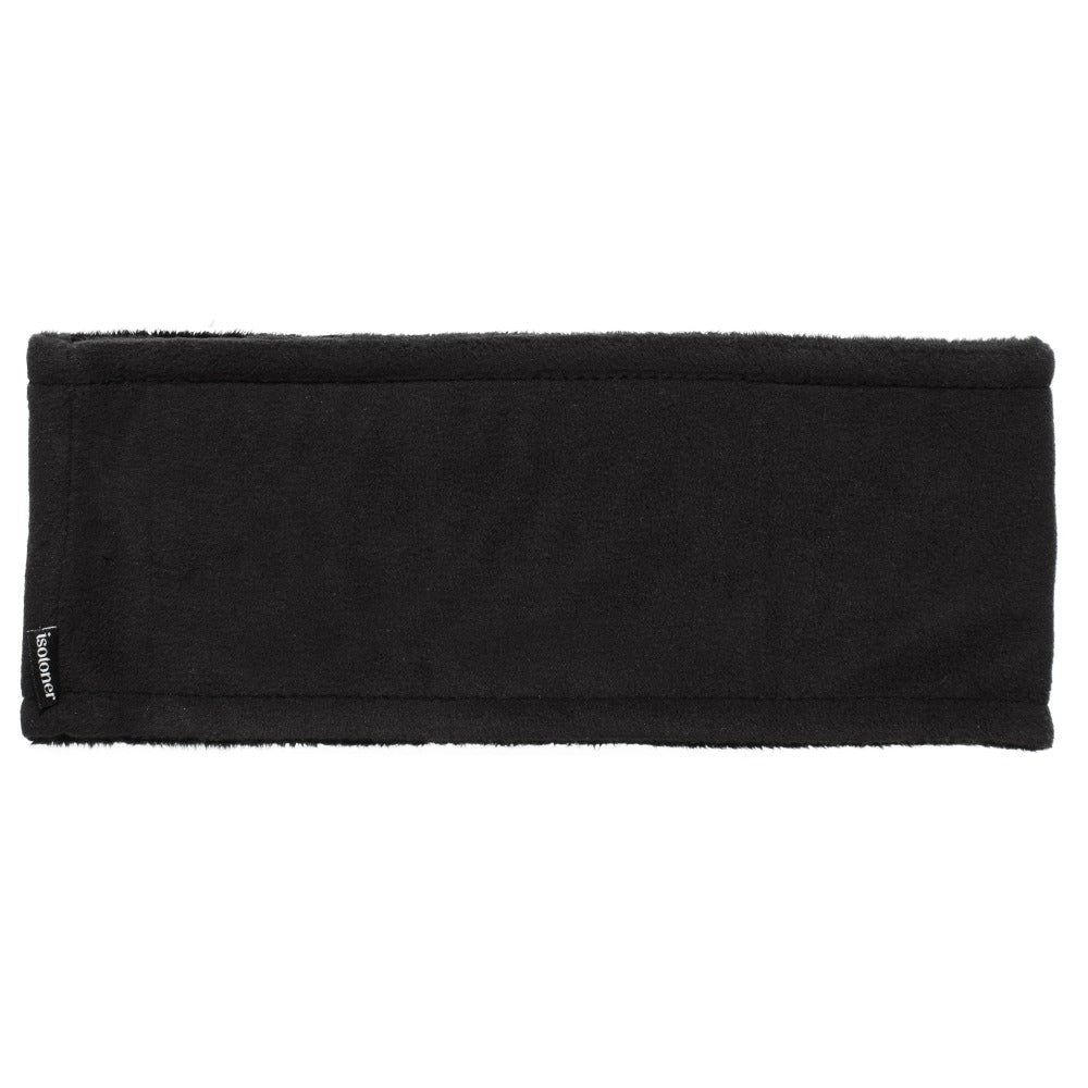 Women's Recycled Fleece Headband in Black