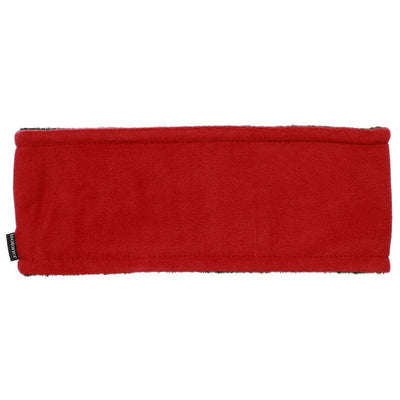 Women's Recycled Fleece Headband in Chili Red