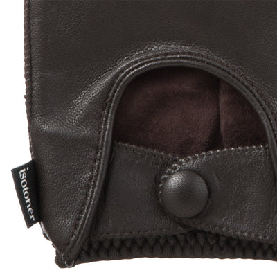 Men's Signature Smooth Leather Driving Gloves Cuff Details