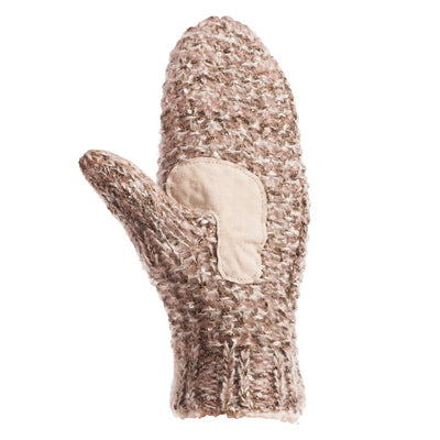 Women's Knit Mittens with Lurex in Cameo Pink Palm View
