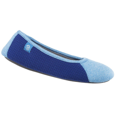 Women's Gina Sport Ballerina in Blue Right Angled View