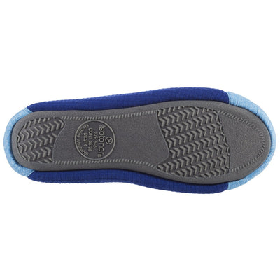Women's Gina Sport Ballerina in Blue Bottom Sole Tread