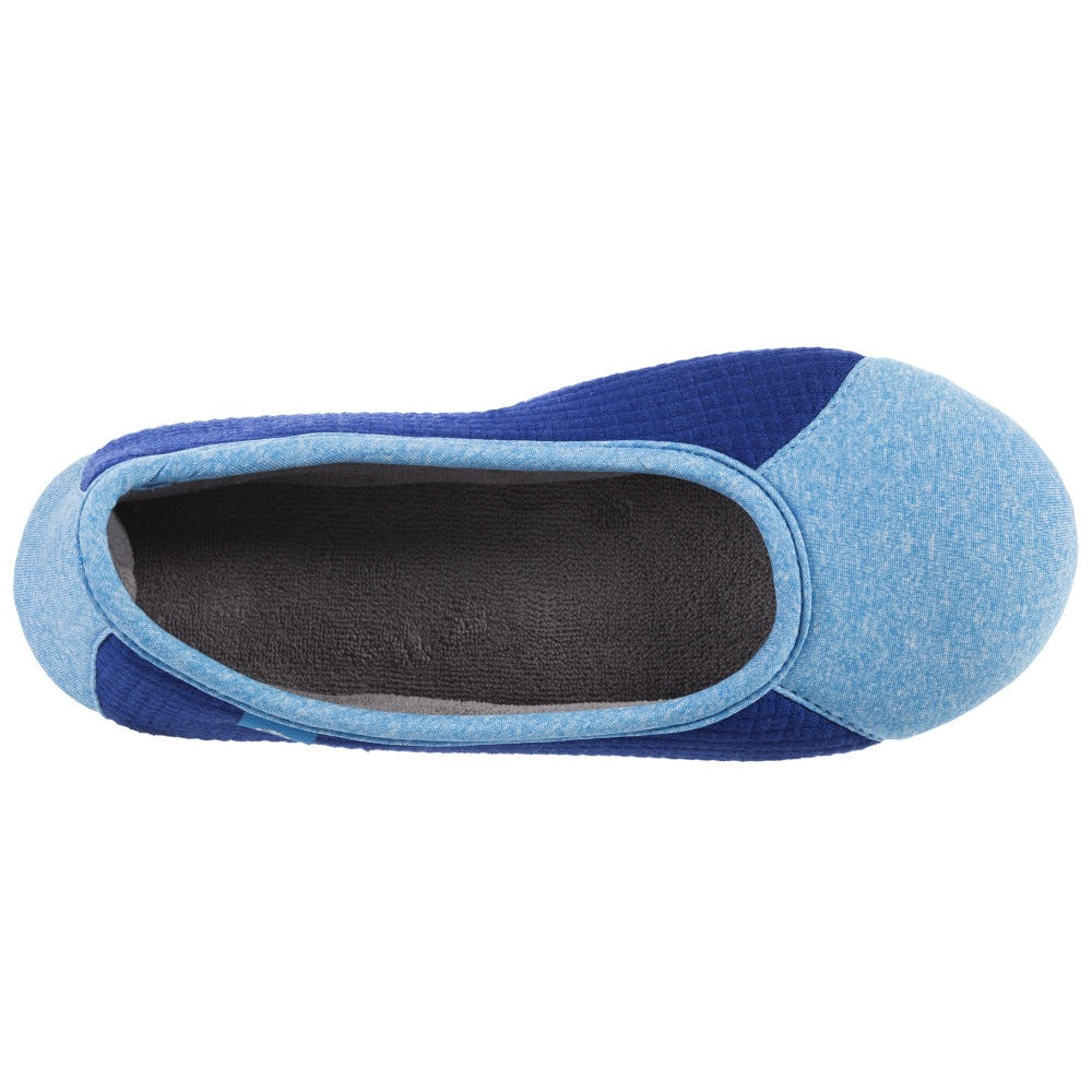 Women's Gina Sport Ballerina in Blue Inside Top View