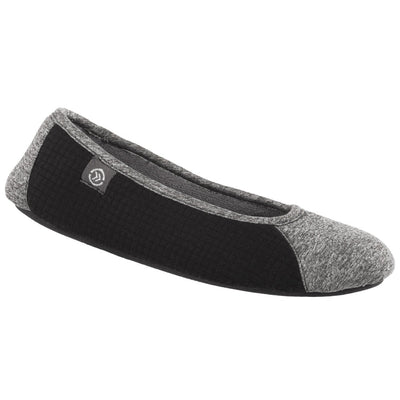 Women's Gina Sport Ballerina in Dark Charcoal Heather Right Angled View
