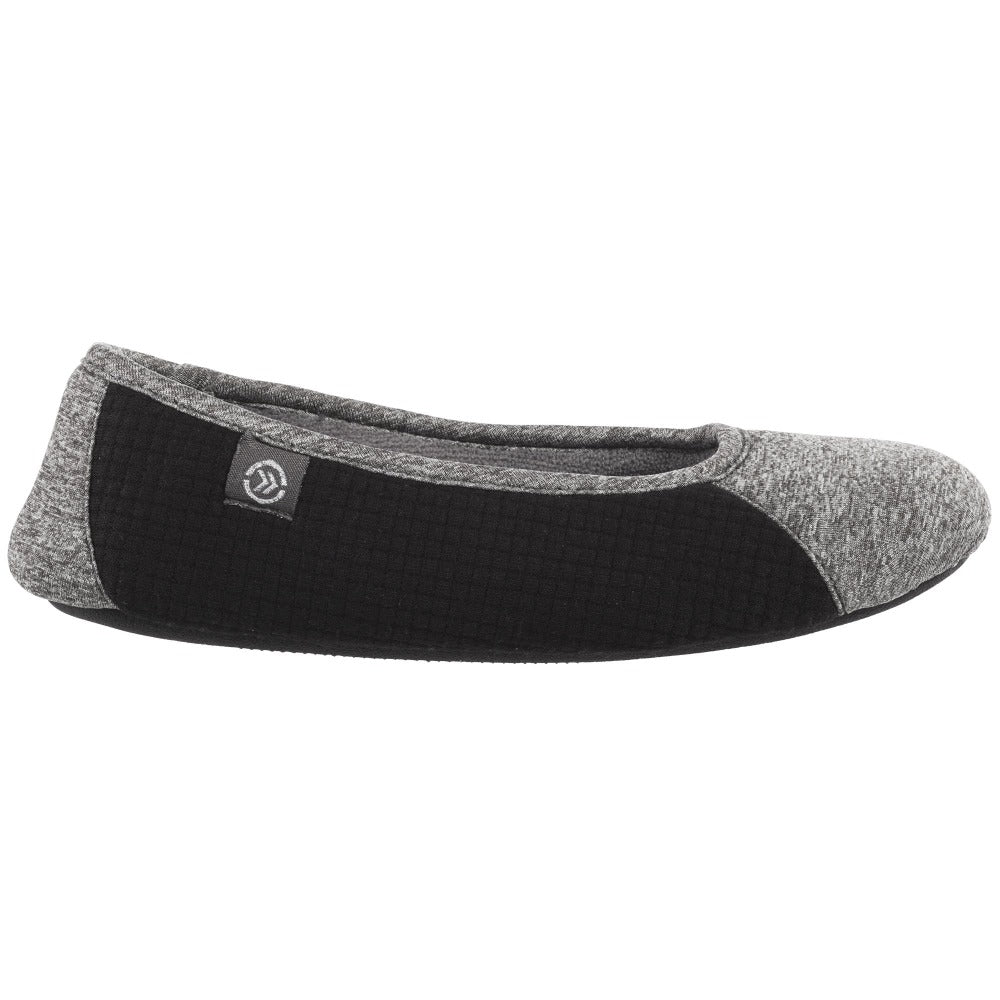 Women's Gina Sport Ballerina in Dark Charcoal Heather Profile