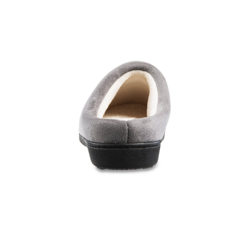 Women's Marisol Microsuede Knit Hoodback Slippers in Heather Grey Back Heel
