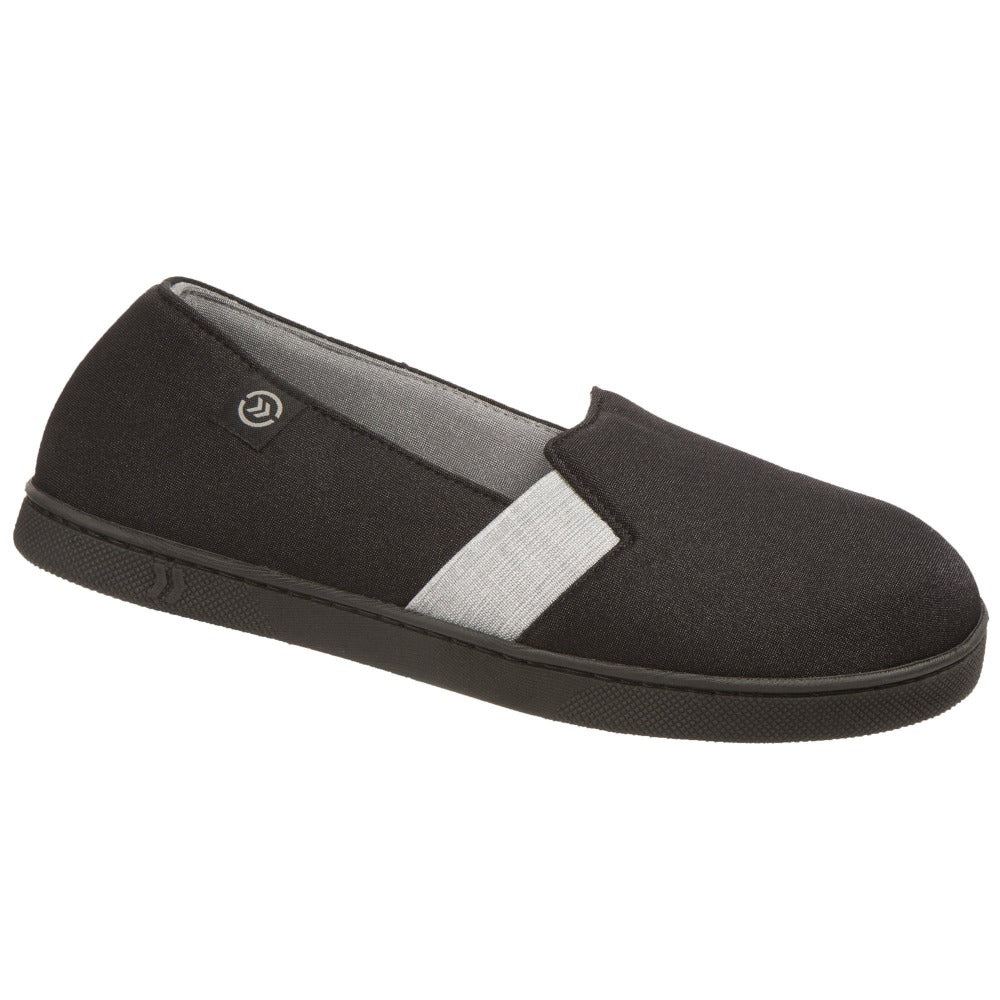 Women's Brandy Closed-Back Slippers in Black Right Angled View