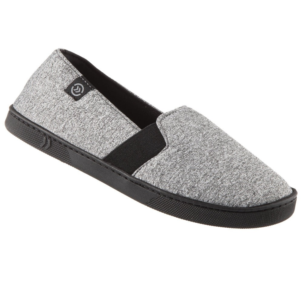 Women's Brandy Closed-Back Slippers in Heather Gray Right Angled View