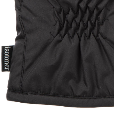 Men's Nylon Gloves with Pieced Back on Black Cuff Detail