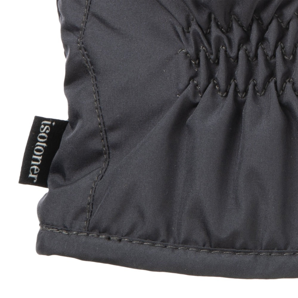Men's Nylon Gloves with Pieced Back Black Heather Cuff Detail