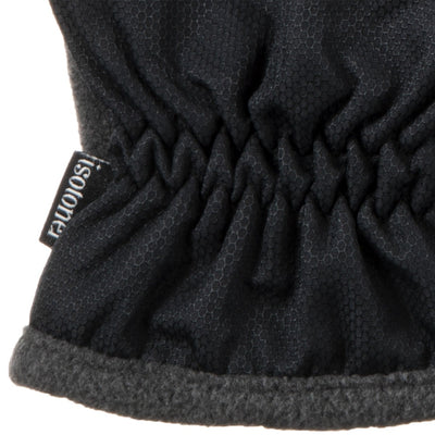 Men's Nylon & Fleece Gloves with Gathered Wrist with Dark Charcoal Heather Cuff Detail