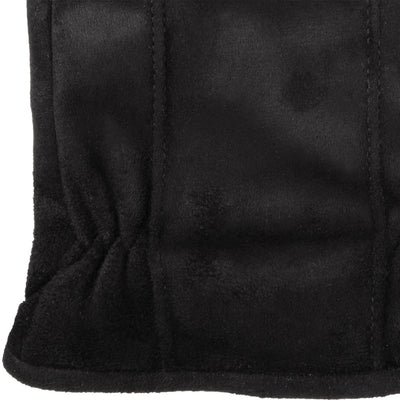 Men's Signature Microfiber Gloves with Back Draws in Black Cuff Detail