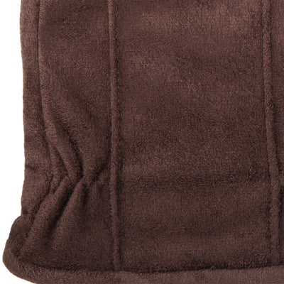 Men's Signature Microfiber Gloves with Back Draws in Brown Cuff Detail