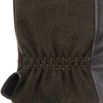 Men's Faux Suede and Microfiber Gloves in Brown Cuff Detail
