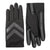 Men's Spandex Chevron Touchscreen Gloves Black 1
