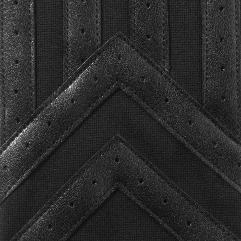 Men's Spandex Applique Chevron Gloves in Black Detail View