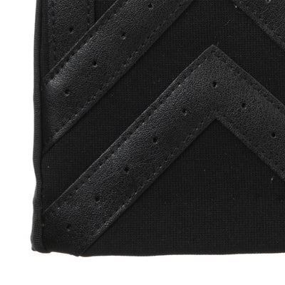 Men's Heritage Woven Applique Chevron Gloves in Black Cuff Details