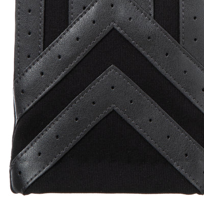 Men's Heritage Woven Applique Chevron Gloves Charcoal Cuff Details