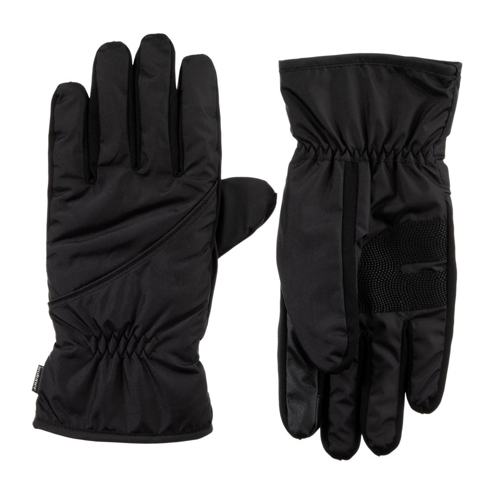 Men's Insulated Pieced Glove pair in Black side by side