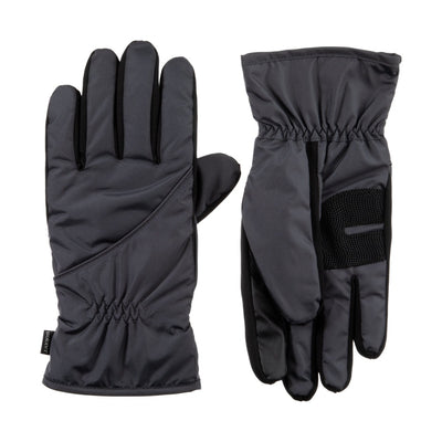 Men's Insulated Pieced Glove pair in Mineral Grey side by side