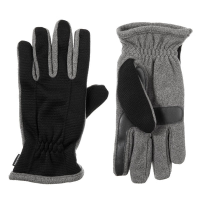 Men's Waterproof Back Draw Glove pair in Black/Oxford Grey side by side