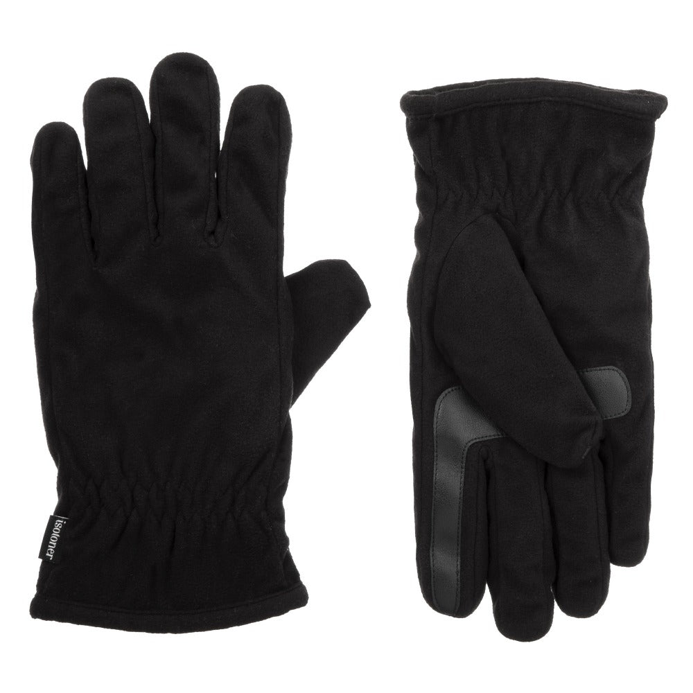 Men's Recycled Stretch Microsuede Gloves with THERMAflex Lining in black