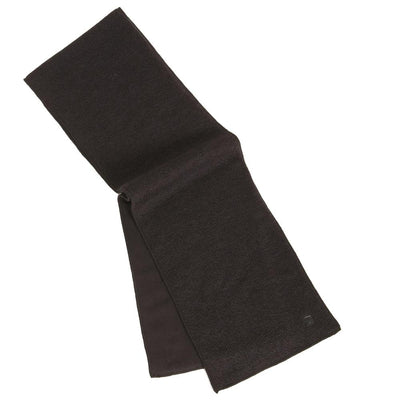 Men's Solid knit scarf with fleece lining in color black