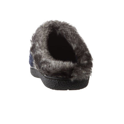 Women's Knit Tessa Hoodback Slippers in Navy Back Heel