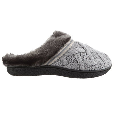 Women's Knit Tessa Hoodback Slippers in Stormy Grey Profile