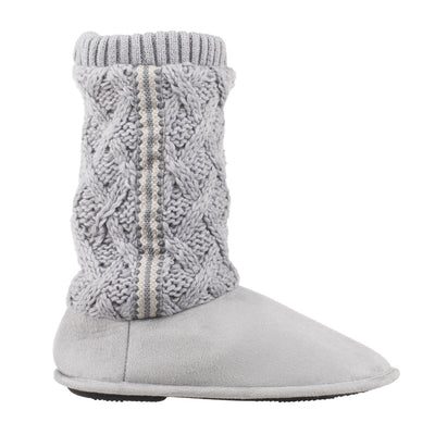 Women's Tessa Knit Tall Bootie Slippers Stormy Grey Profile