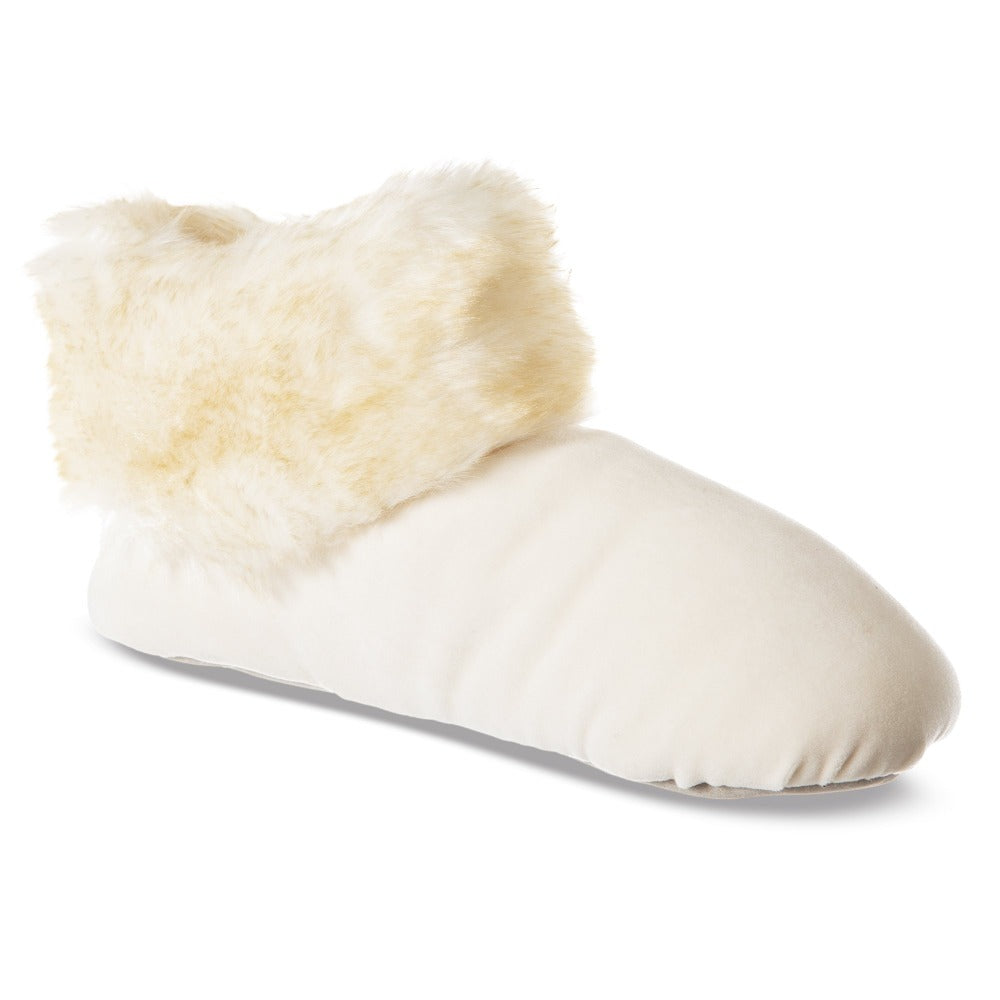 SlumberzzZ Womens Plush Tufted Fully Lined Boot Slippers