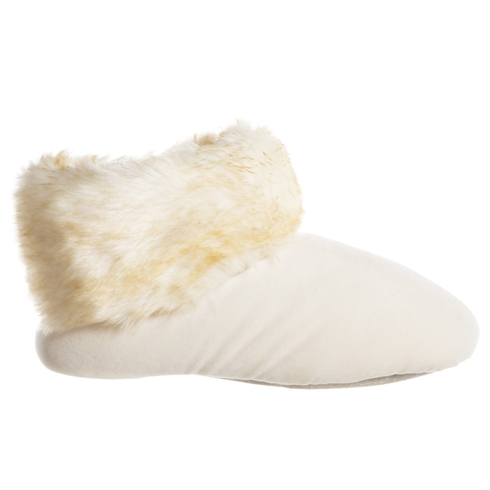 Women's Stretch Velour Sabrine Bootie Slippers in Ewe Profile