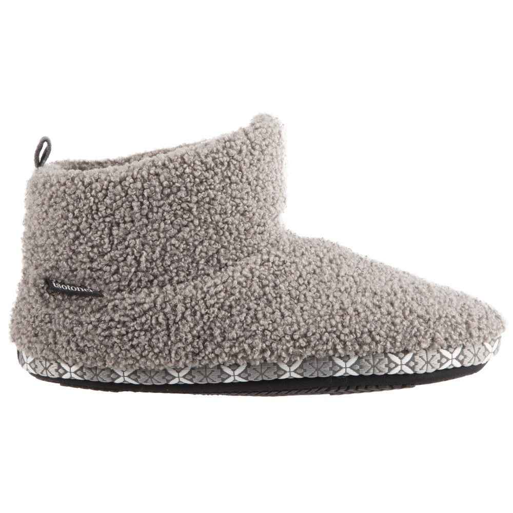 Women's Nina Cozy Berber Bootie Slippers in Mineral Profile