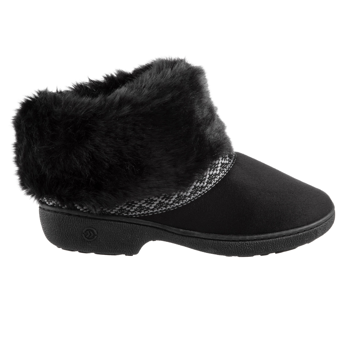 Women's Basil Microsuede Bootie Slippers Black 1