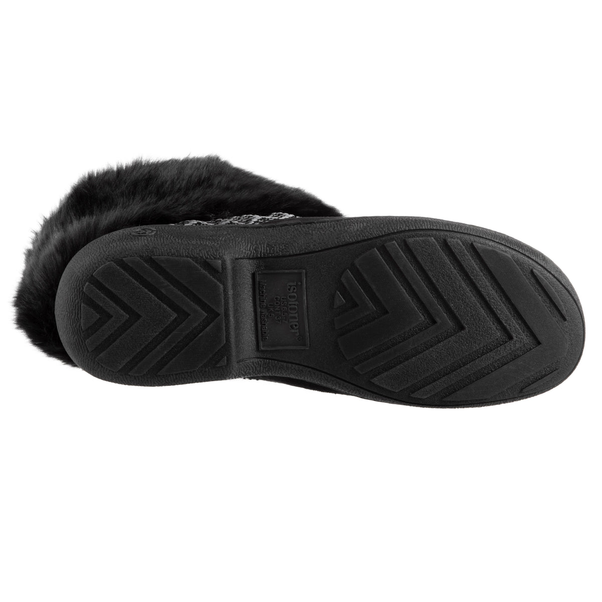 Women's Basil Microsuede Bootie Slippers Black 4