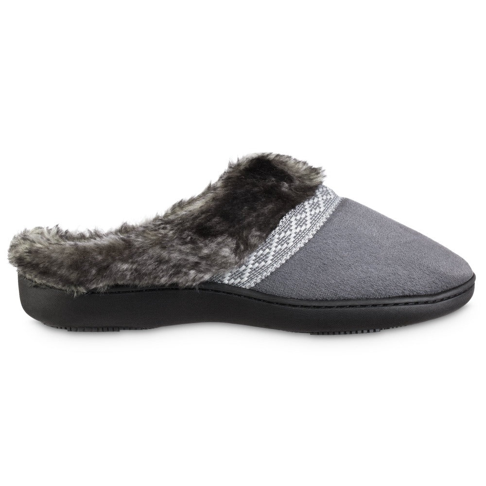 Women's Microsuede Basil Hoodback Slippers in Mineral Profile