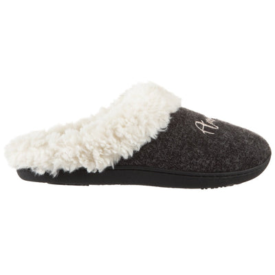 Women's Sweater Knit Novelty Clog Slippers Black Amour/Love Profile